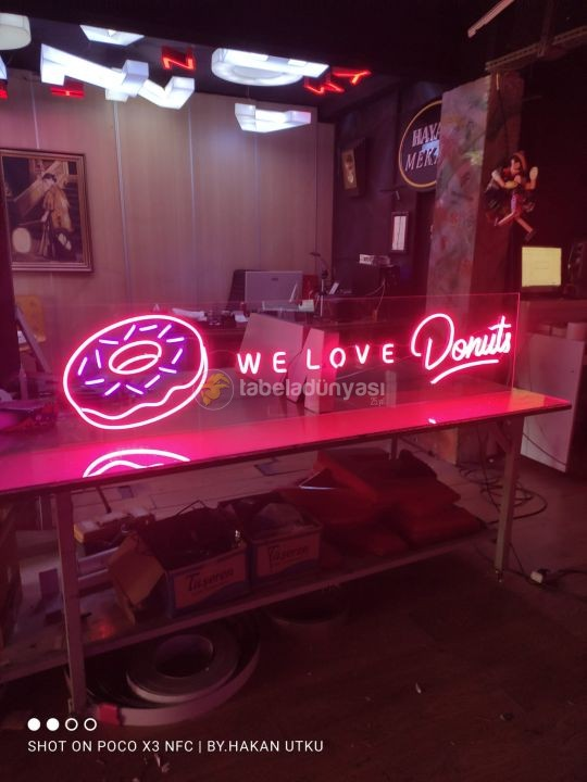 Donuts neon hortum led