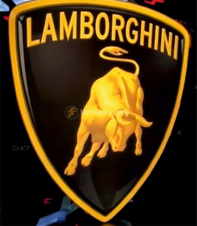 Lamborghini Isıklı Tabela